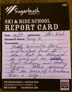 Sugarbush Resort Report Card