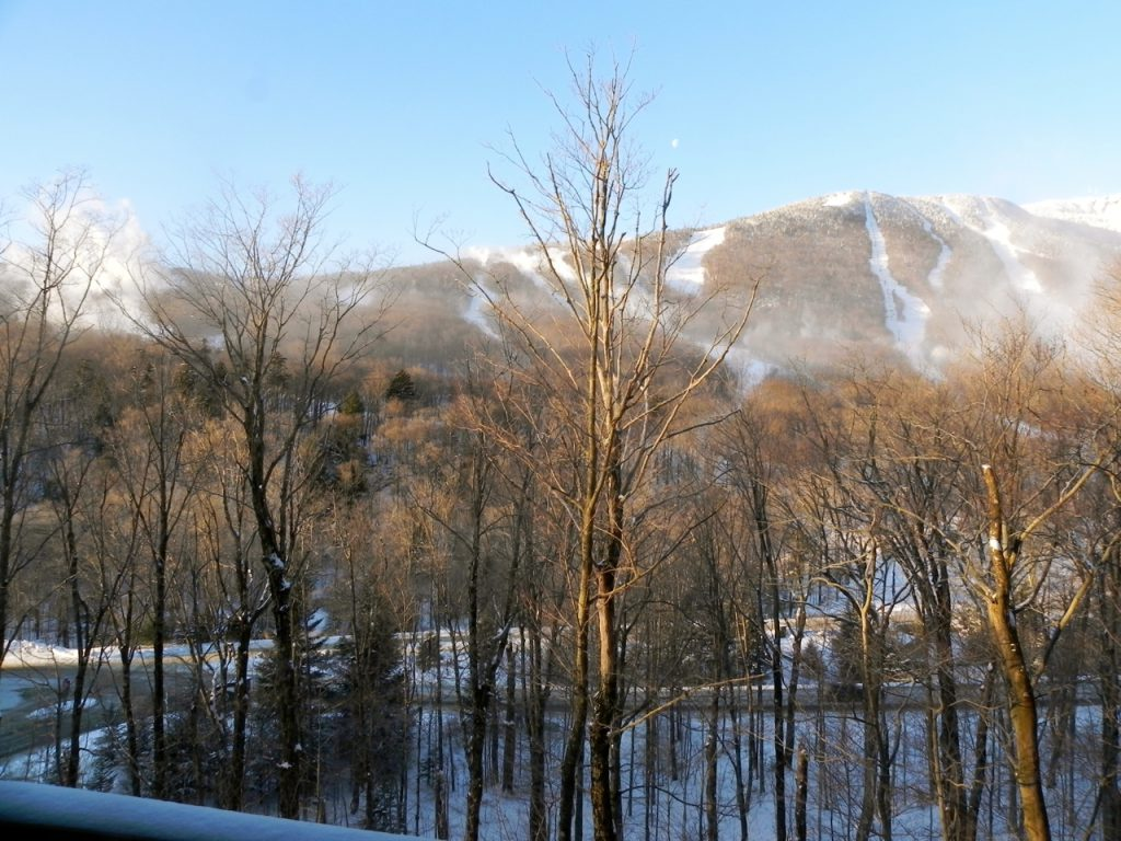 Many rooms at Stowe Mountain Lodge have views of Mt. Mansfield
