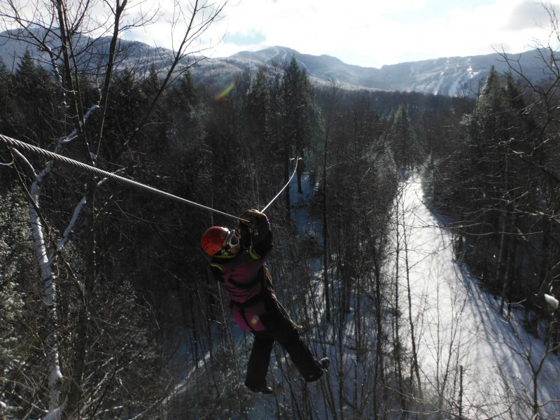Zip Lining with ArborTrek Tours at Smugglers' Notch