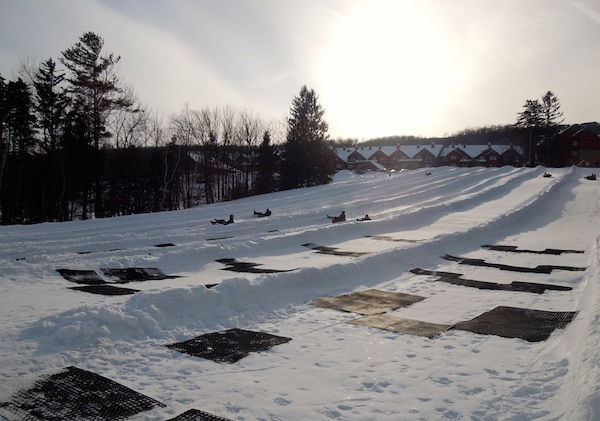 Tubing hill at Mount Snow.