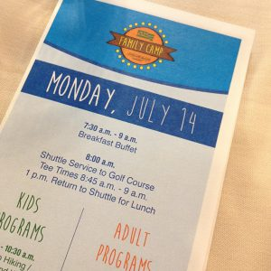 Mount Snow family camp schedule