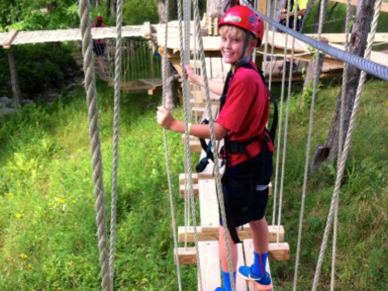 Fall Fun on the ArborTrek Treetop Obstacle Course at Smuggler's Notch