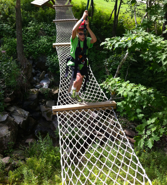 Geared up at the Arbortrek Treetop Obstacle Course