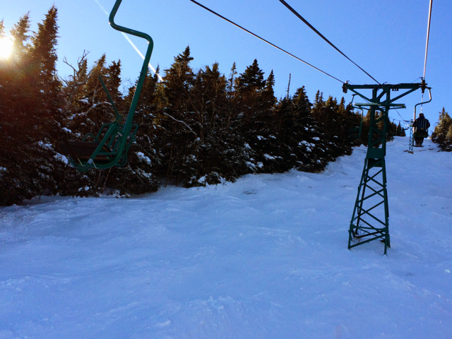 Classic lift over a classic run - The Chute at Mad River Glen