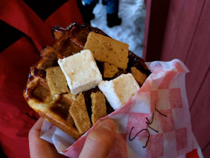 We All Love Waffles at Sugarbush Resort