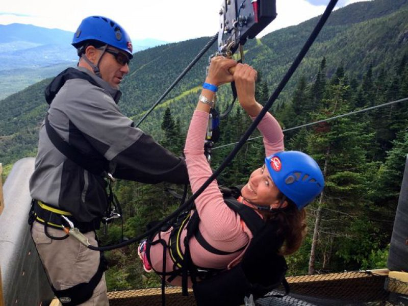Flying Mamas: Experiencing Stowe's New ZipTour