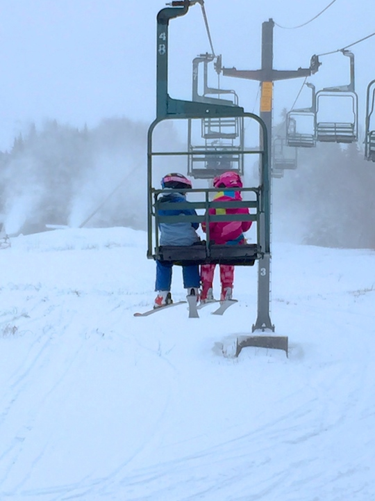 Bolton Valley Resort's snowflake chair lift