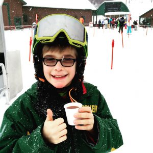 Hot cocoa at Stowe