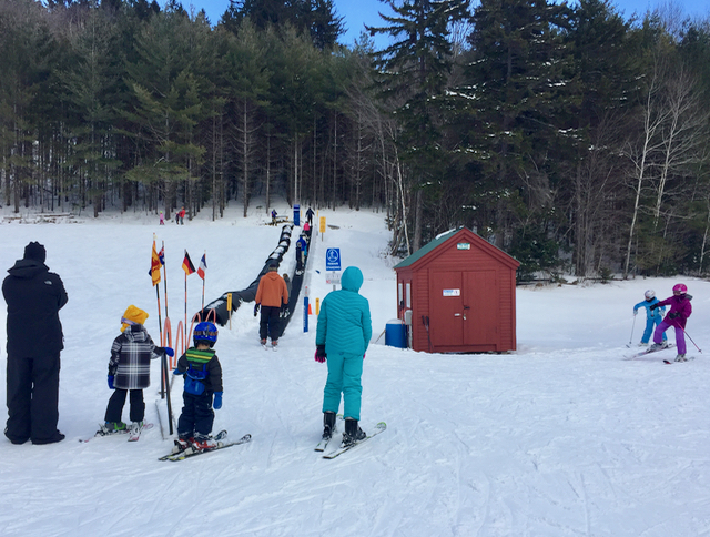The Snow Bowl Discovery Zone is the perfect place to learn to ski or board.
