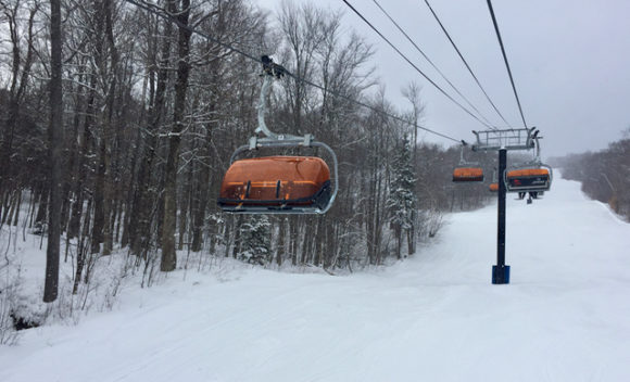 Okemo Mountain Resort orange chair