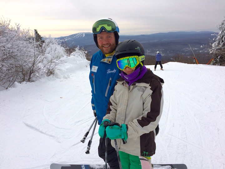 Dad and Kids ski weekend Bromley Mountain