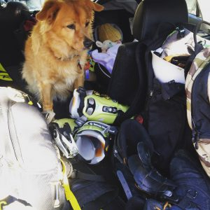 Packing the car for skiing