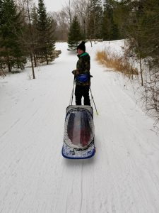 pulk sled at Smuggs