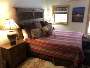 Master bedroom at Trillium cottage