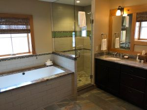 Master bath at Trillium cottage