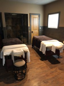 Massage room at spa