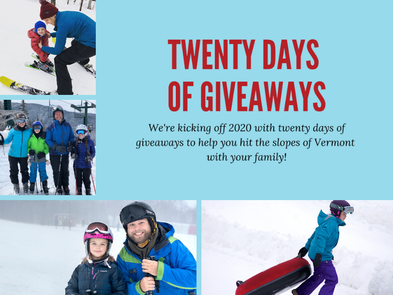 Twenty Days of Vermont Family Giveaways for 2020