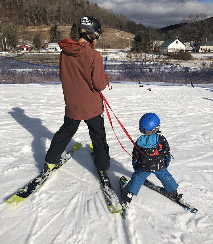 dad and son ski