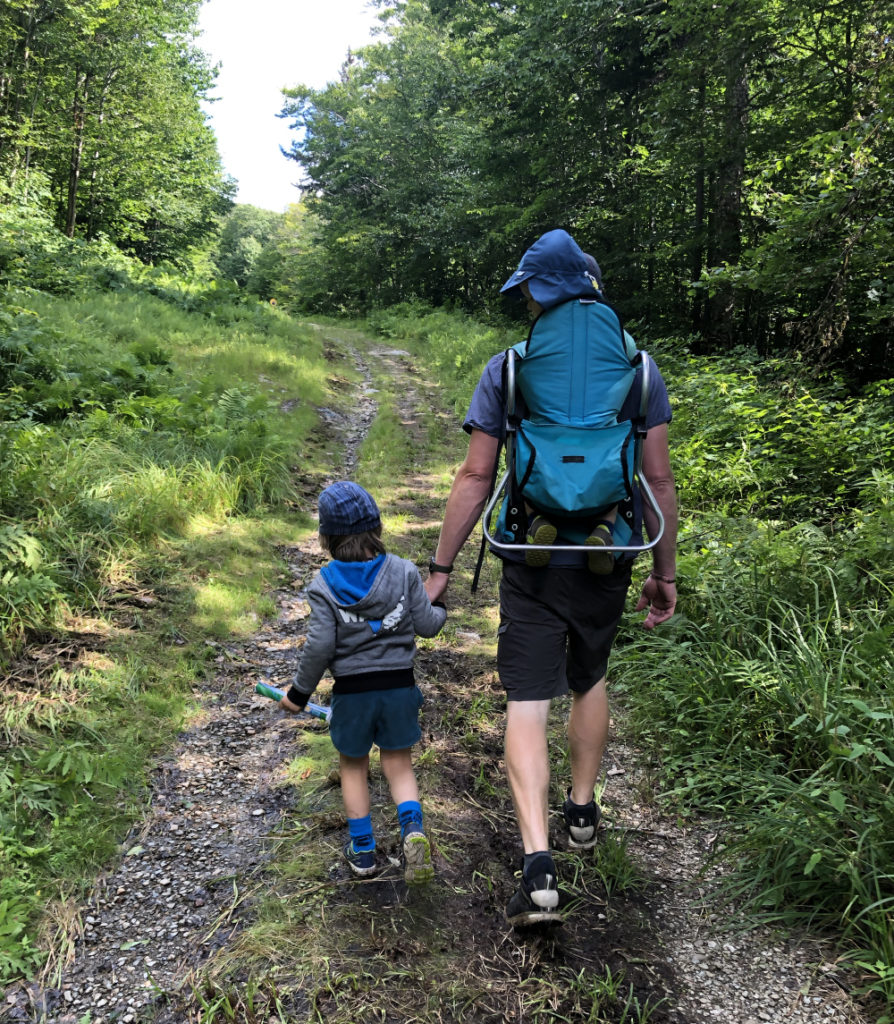 Family hiking at Bolton Valley