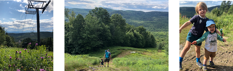 Family hike at Bolton Valley