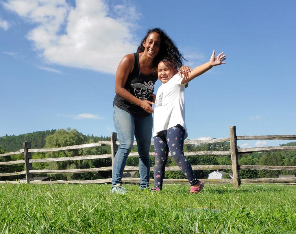 Mom and daughter at Billings Farm & Museum